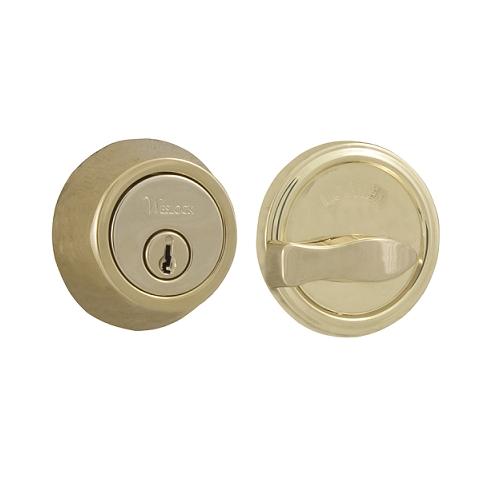Weslock 671 Single Cylinder Life time Polished Brass (L03)