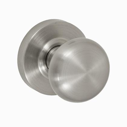 Fusion Contemporary Brass Half-Round Door Knob with Contemporary Rose BRN