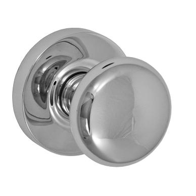 Fusion Contemporary Brass Half-Round Door Knob with Contemporary Rose PLC
