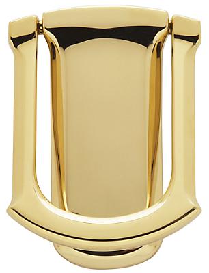 Baldwin 0105 Tahoe Door Knocker in Lifetime Polished Brass (003)