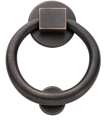 Baldwin 0195 Ring Knocker in Distressed Distressed Oil Rubbed Bronze (402)