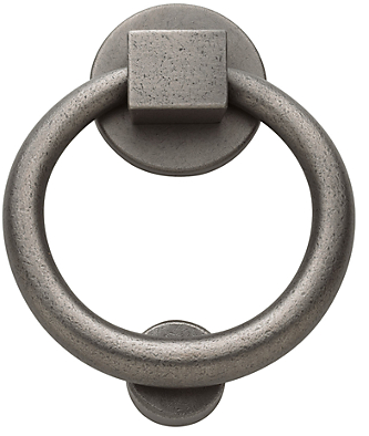 Baldwin 0195 Ring Knocker in Distressed Antique Nickel (452)