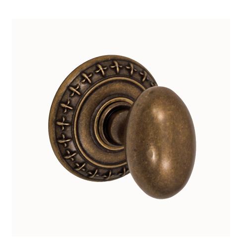 Fusion St. Charles Egg Door Knob 02 with St. Charles Rose Medium Bronze