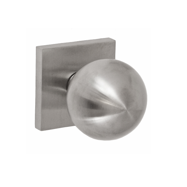 Fusion Cast Stainless Steel 3060 Door Knob with Square Rose BSS