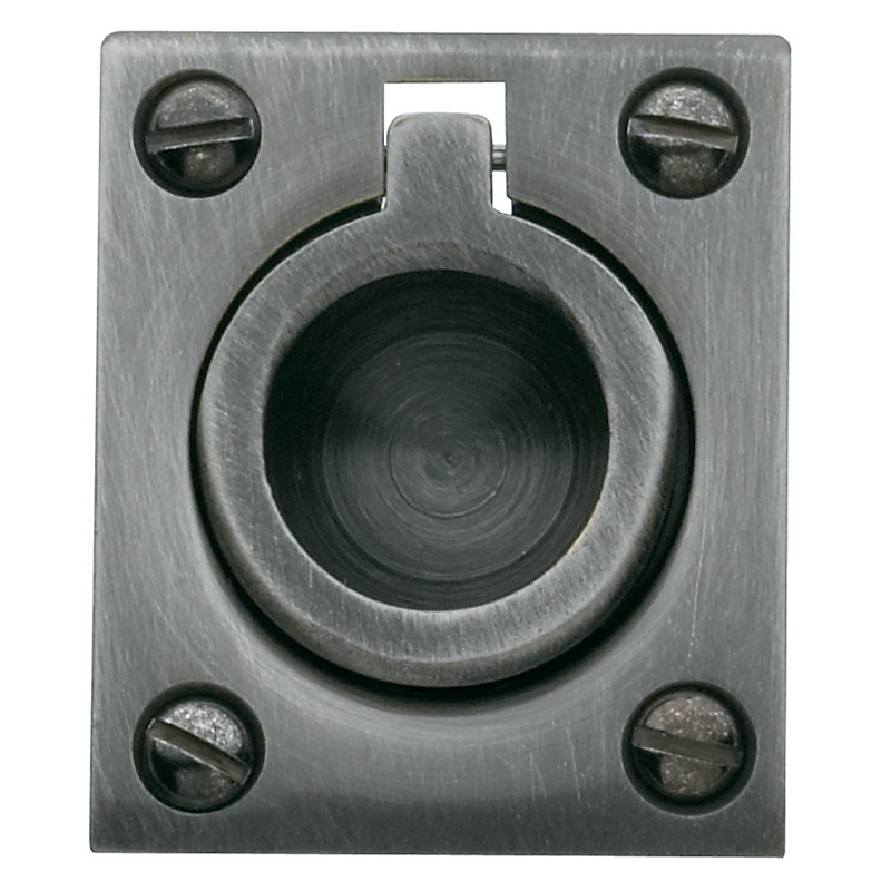 Baldwin 0392 Flush Ring Pull in Antique Nickel (151)