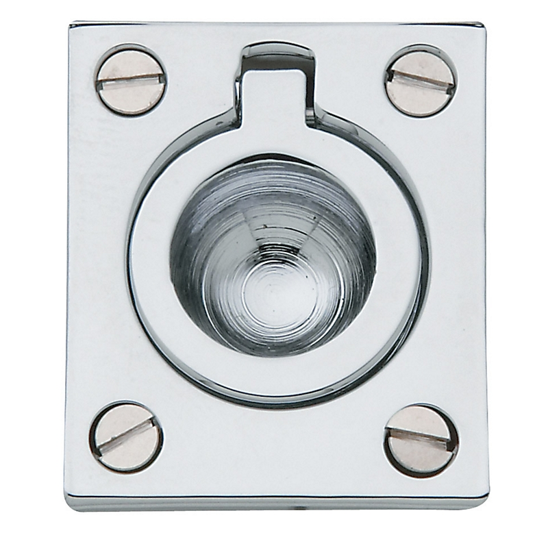 Baldwin 0392 Flush Ring Pull in Polished Chrome (260)