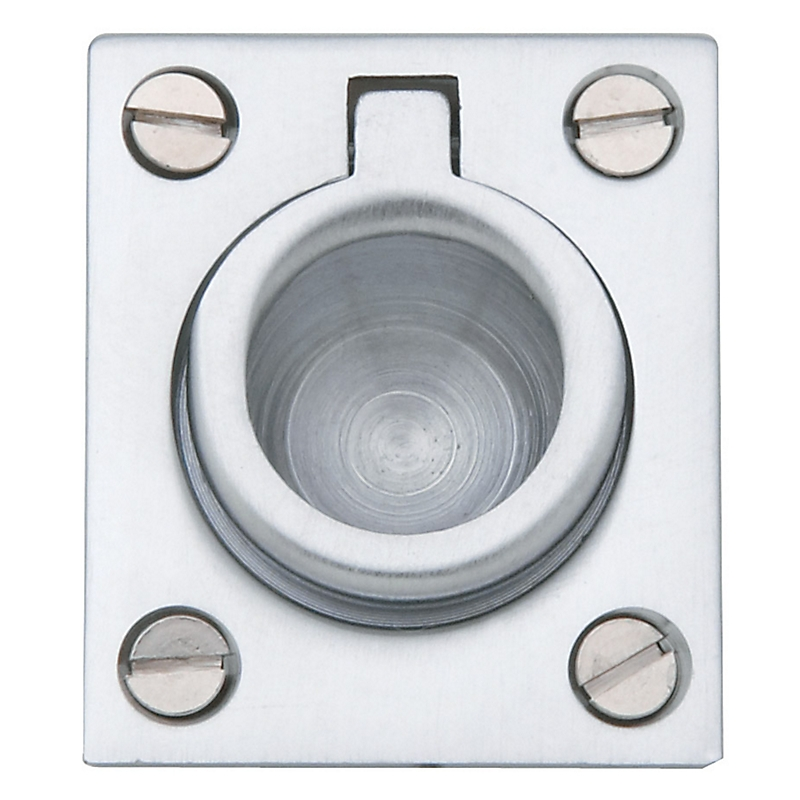 Baldwin 0392 Flush Ring Pull in Satin Chrome (264)