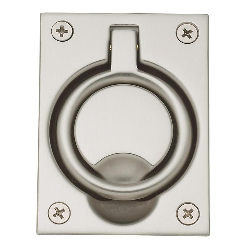 Baldwin 0395 Flush Ring Pull in Satin Nickel (150)