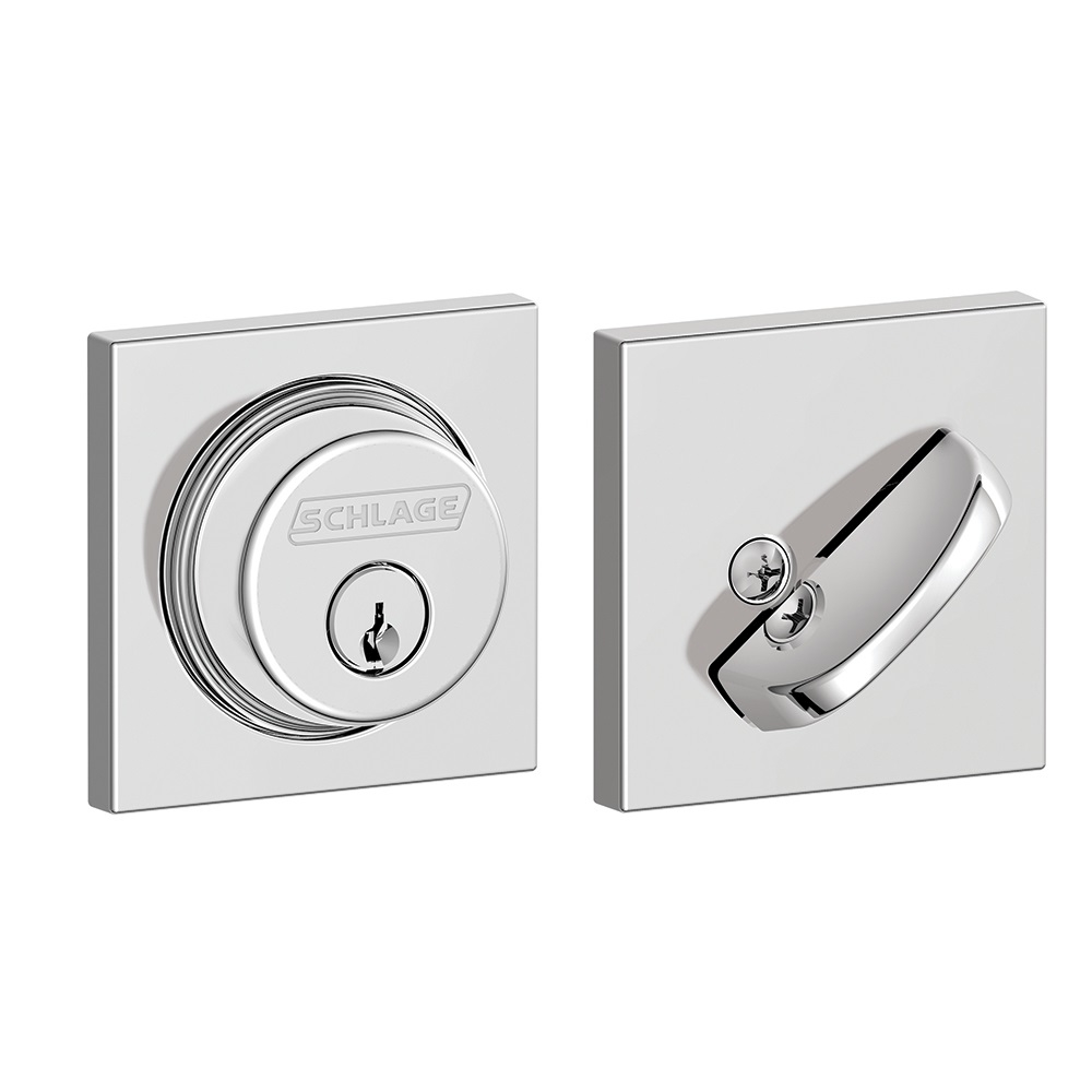 Schlage B60 Col Single Cylinder Grade 1 Collins Deadbolt