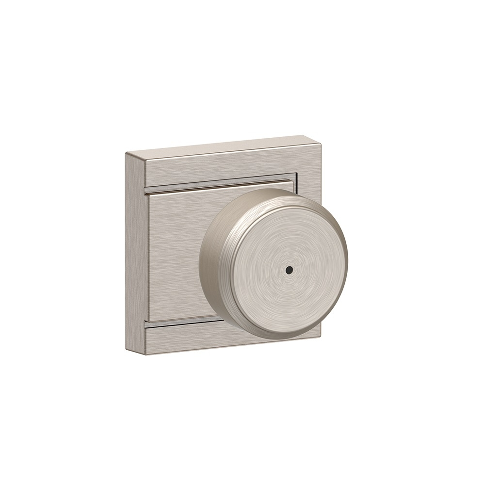 Schlage F40-BWE-ULD Bowery Privacy Door Knob Set with Upland Rose
