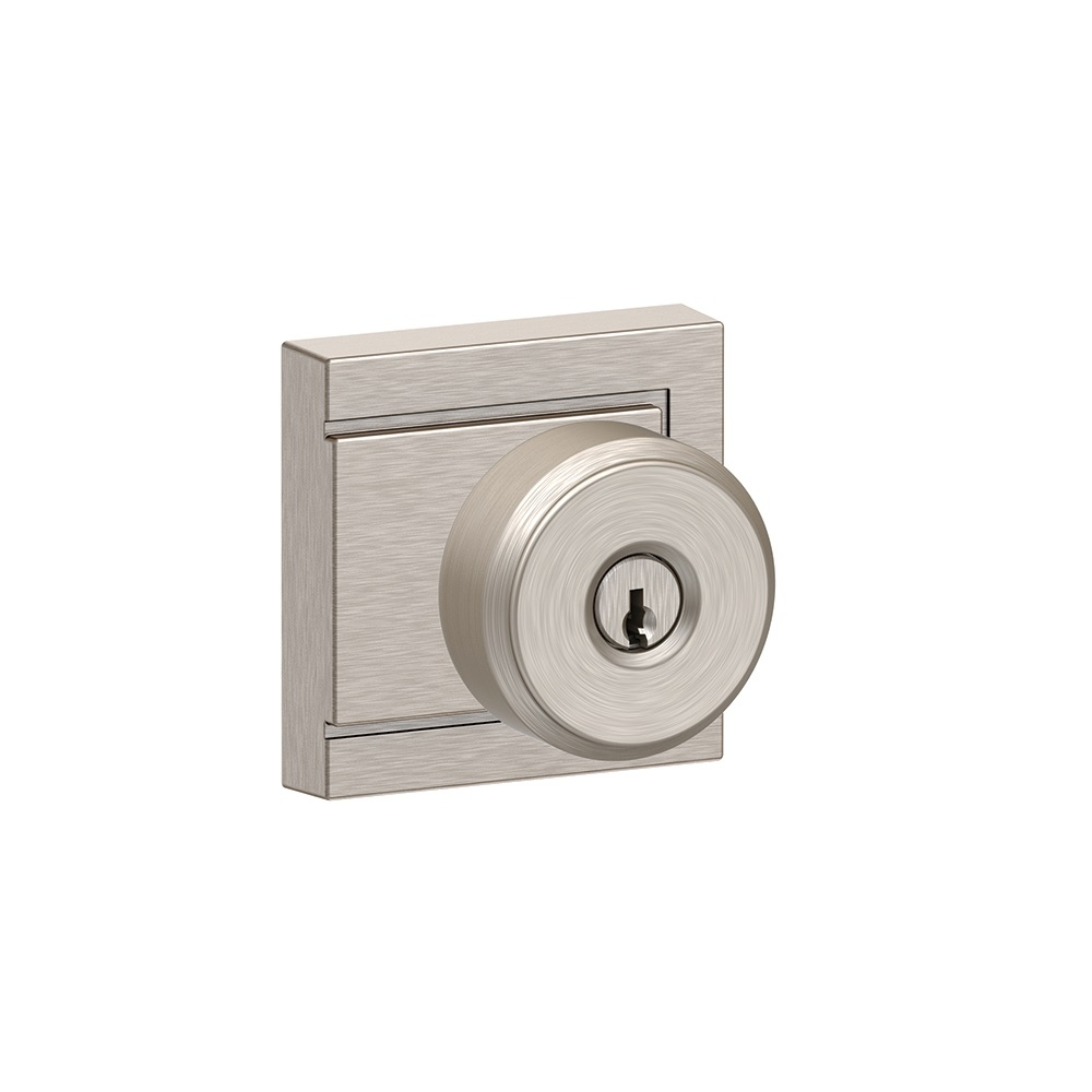 Schlage F51a Bwe Uld Bowery Keyed Entry Doorknob Set With