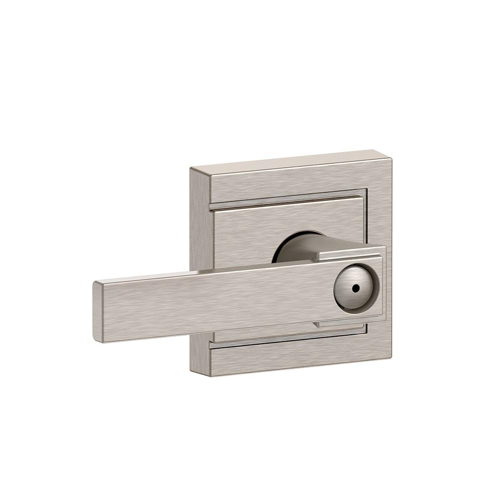 Schlage F40-NBK-ULD Northbrook Privacy Door Lever Set with Upland Rose