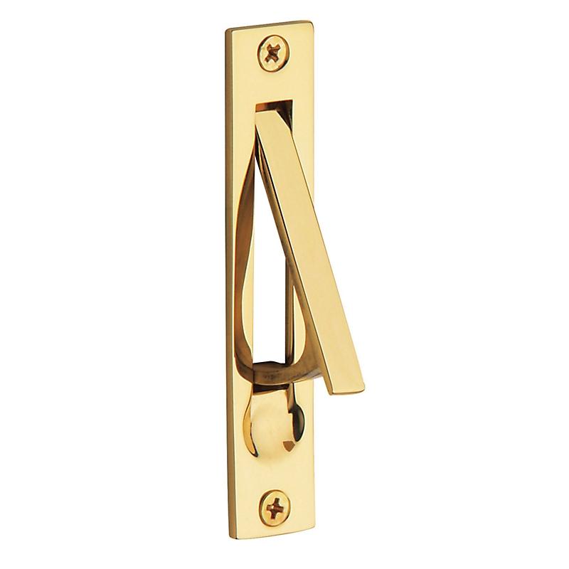 Baldwin 0465 Edge Pull in Lifetime Polished Brass (003)