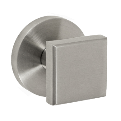 Fusion Cast Stainless Steel 3050 Cast Door Knob with Contemporary Rose BSS