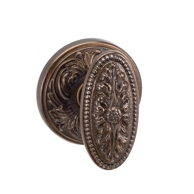 Omnia Classico Collection 059FL Knob Latchset Estrucan Bronze (ETR)