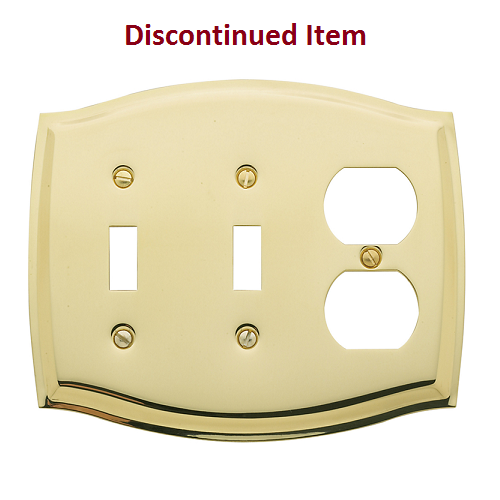 Baldwin colonial outlet double toggle combo switch plate for Outlet colonial