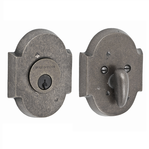 Fusion Sandcast Bronze Small Scalloped Deadbolt 100-A3-AXP