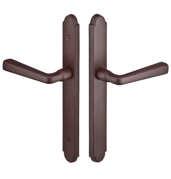 Emtek 1112 Configuration #1 SandCast Bronze ARCHED Style Multi-Point Trim for Pa