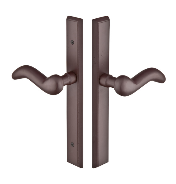 Emtek 1152 Configuration #1 SandCast Bronze RECTANGULAR Style Multi-Point Trim f