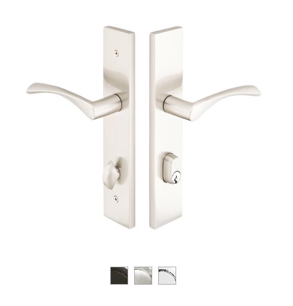 Emtek 11B1 Configuration #1 Brass MODERN Style Multi-Point Trim for Patio Doors