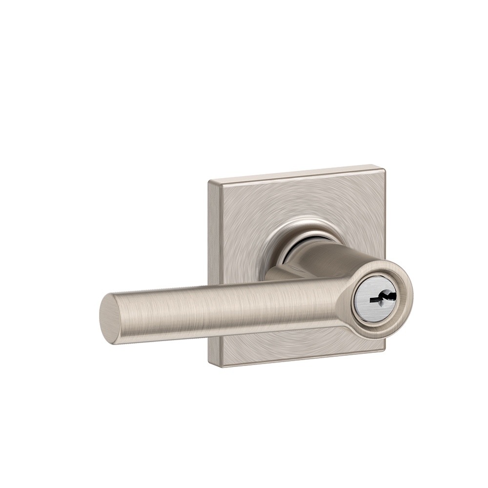 schlage f51a brw col broadway keyed entry door lever set