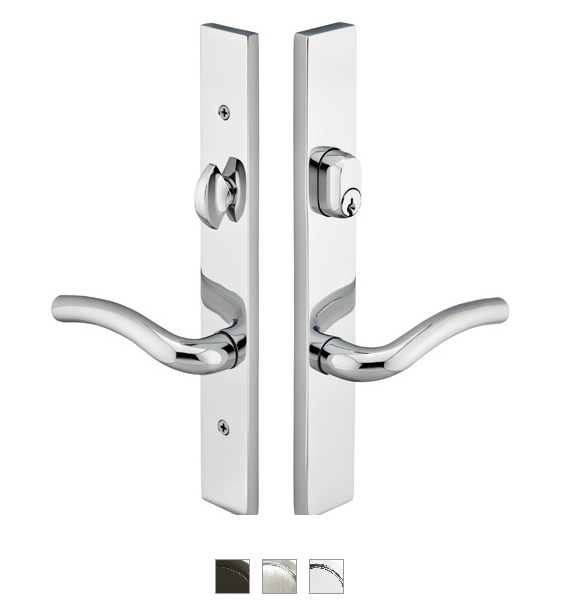 Emtek 12A1 Configuration #2 Brass MODERN Style Multi-Point Trim for Patio Doors
