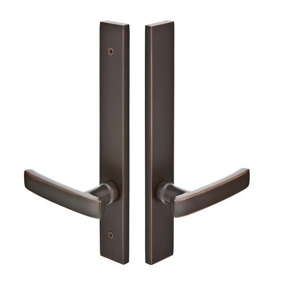 Emtek 12A2 Configuration #2 Brass MODERN Style Multi-Point Trim for Patio Doors