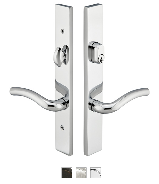 Emtek 14A1 Configuration #4 Brass MODERN Style Multi-Point Trim for Patio Doors
