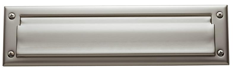 Baldwin 0012 Single Flap Letter Box Plate in Satin Nickel (150)
