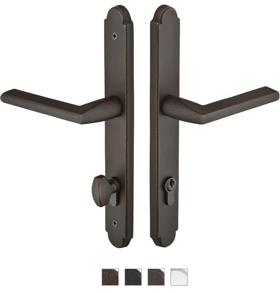 Emtek 1511 Configuration #5 SandCast Bronze ARCHED Euro Style Multi-Point Trim f