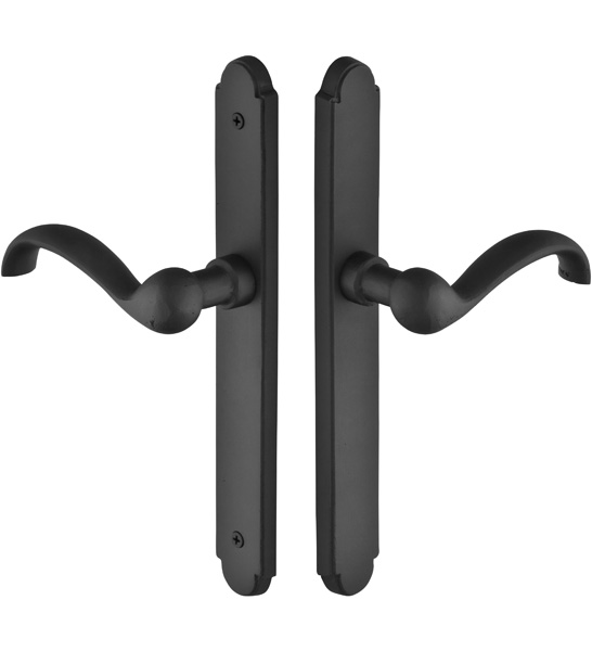 Emtek 1512 Configuration #5 SandCast Bronze ARCHED Euro Style Multi-Point Trim f
