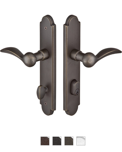 Emtek 1621 Configuration #6 SandCast Bronze ARCHED Style Multi-Point Trim for Pa