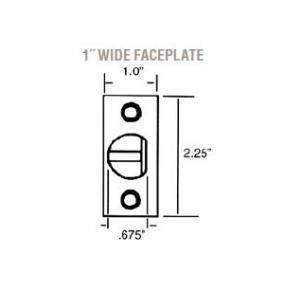Baldwin Estate Latch Faceplate Dimensions