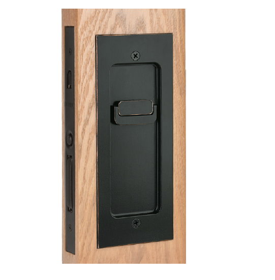 Emtek 2113 Modern Rectangular Keyed Pocket Door Mortise