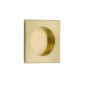 Emtek 2213 Square Flush Pull Satin Brass