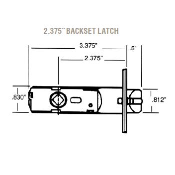 Baldwin Estate 5515 Lever Strength Passage Latch with 2-3/8