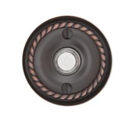 Emtek 2401 Door Bell Button w/Rope Rose Oil Rubbed Bronze (US10B)