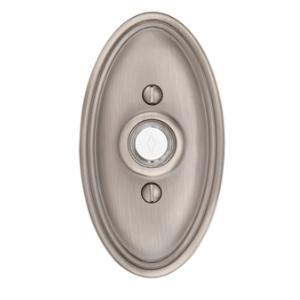 Emtek 2402 Door Bell Button w/Oval Rose Pewter (US15A)