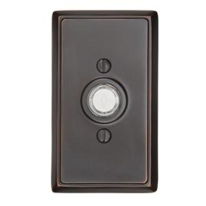 Emtek 2403 Door Bell Button w/Rectangular Rose Oil Rubbed Bronze (US10B)