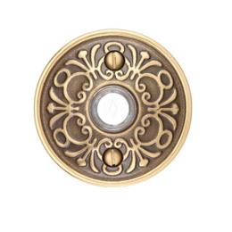 Emtek 2406 Door Bell Button w/Lancaster Rose French Antique (US7)