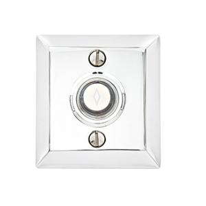 Emtek 2409 Door Bell Button w/WQuincy rose Satin Nickel (US15)