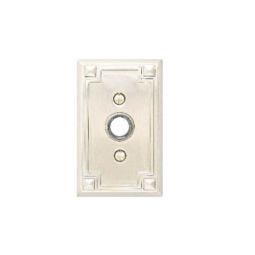 Emtek 2451 Door Bell Button with Arts and Crafts Rosette
