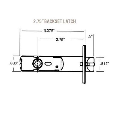 Baldwin Estate 5520.P Knob Strength Privacy Latch with 2-3/4