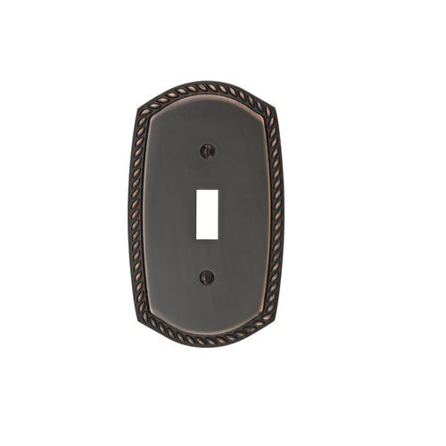 Emtek 29211 Rope Toggle 1 Switchplate Oil Rubbed Bronze (US10B)
