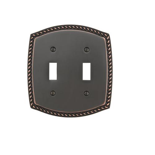 Emtek 29212 Rope Toggle 2 Switchplate Oil Rubbed Bronze (US10B)