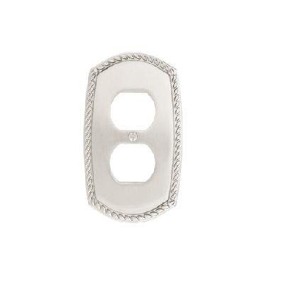 Emtek 29231 Rope Duplex 1 Switchplate Satin Nickel (US15)
