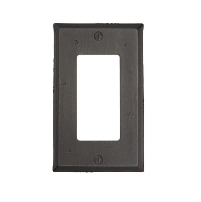 Emtek 29121 Rustic Rocker 1 Switchplate Medium Bronze Patina (MB)