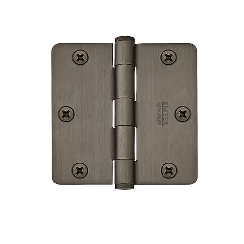 Emtek 3 1/2 radius corner residential brass hinge