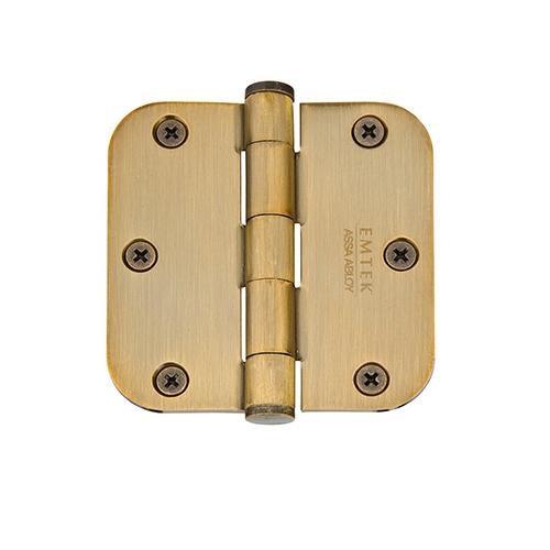 Emtek 3 1/2 Steel heavy duty radius corner hinge 92033