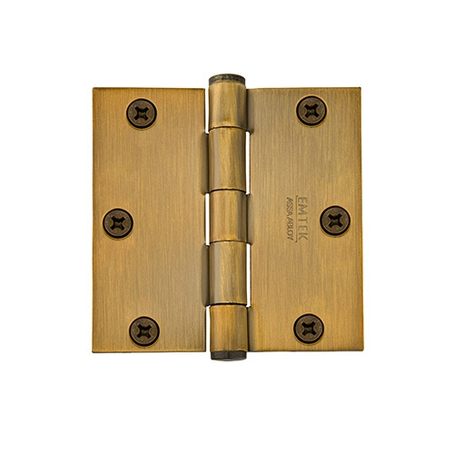 Emtek 92013 3 1/2 Steel heavy duty square corner 92013